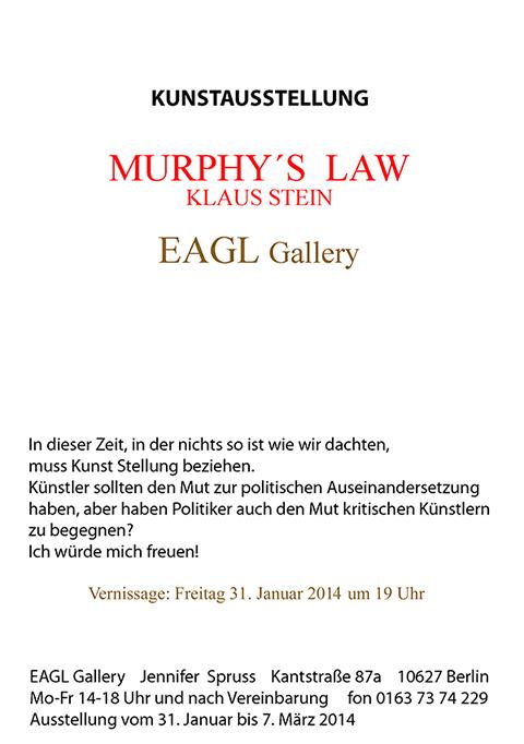 Einladung zu EAGL Gallery - Murphy´s Law