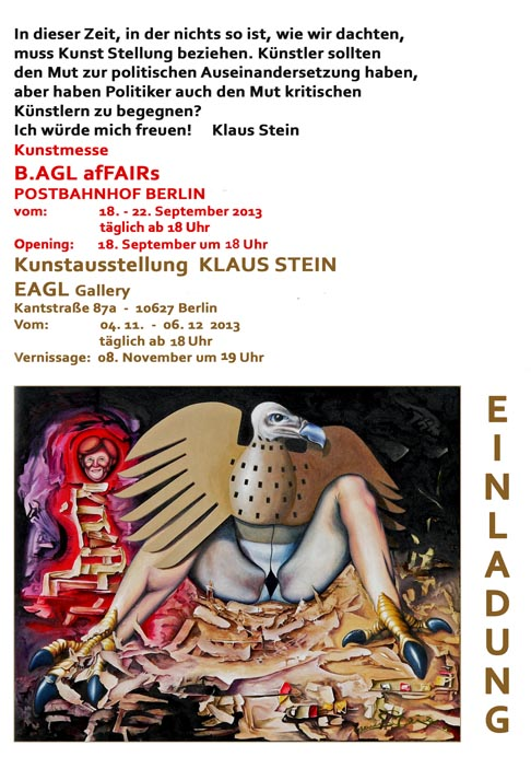 Einladung Bagl und EAGL Gallery 2013